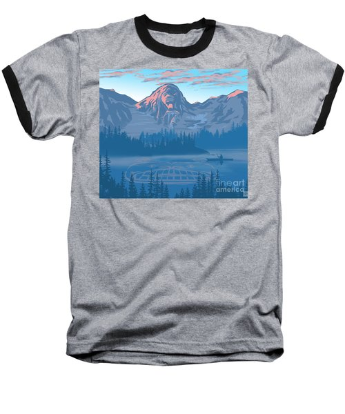 Bear Country Scenic Landscape Baseball T-Shirt