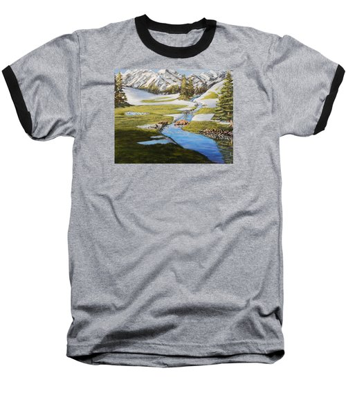 Spring In The Mountains Baseball T-Shirt
