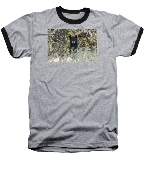 Baseball T-Shirt featuring the photograph Bear Cub Looking For Mom by Stephen  Johnson