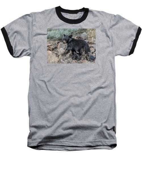 Bear Cub Walking Baseball T-Shirt