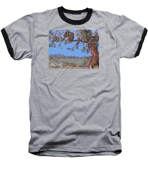 Baseball T-Shirt featuring the painting Bear Cubs In Cedar by Dawn Senior-Trask