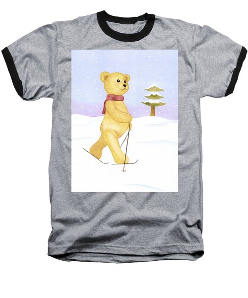 Baseball T-Shirt featuring the painting Bear by Elizabeth Lock