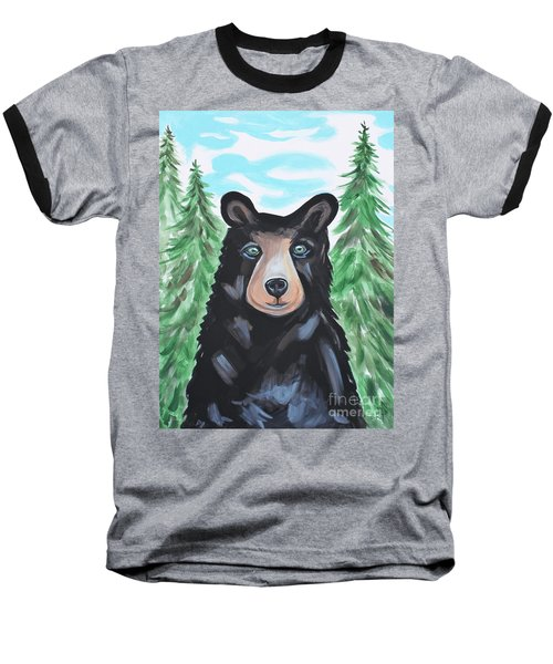 Bear In The Woods Baseball T-Shirt