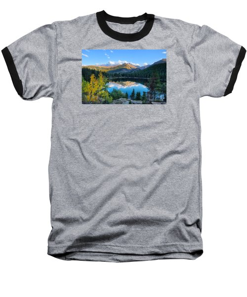 Bear Lake Reflection Baseball T-Shirt by Ronda Kimbrow