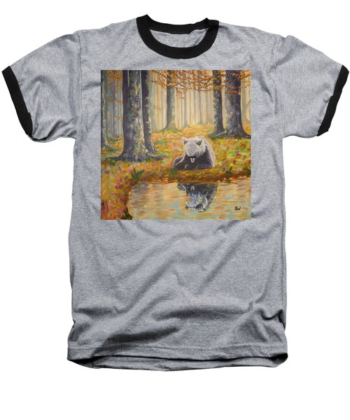 Bear Reflecting Baseball T-Shirt