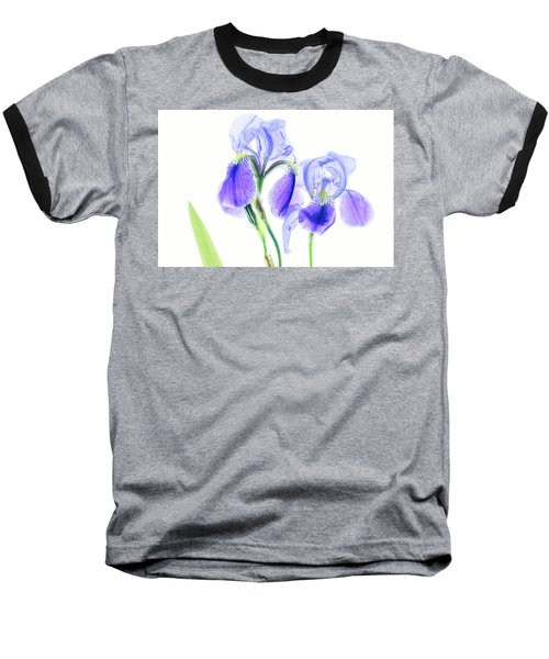 Bearded Iris Baseball T-Shirt