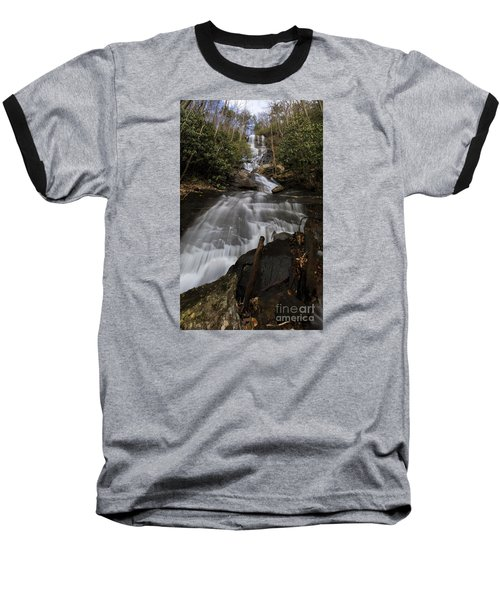 Baseball T-Shirt featuring the photograph Bearden Falls Vertical by Barbara Bowen