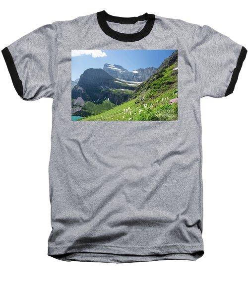 Beargrass - Grinnell Glacier Trail - Glacier National Park Baseball T-Shirt