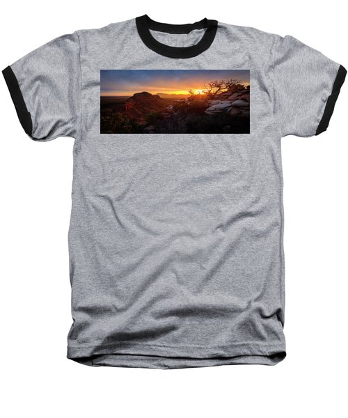 Bears Ears Sunset Panorama Baseball T-Shirt