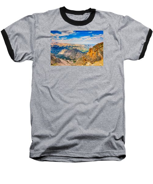 Beartooth Highway Scenic View Baseball T-Shirt by John M Bailey