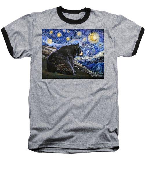 Beary Starry Nights Baseball T-Shirt by J W Baker