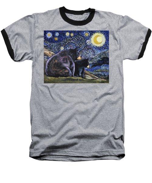 Beary Starry Nights Too Baseball T-Shirt