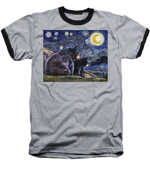Beary Starry Nights Too Baseball T-Shirt