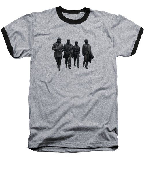 Baseball T-Shirt featuring the photograph Beatles Remembered  by Movie Poster Prints