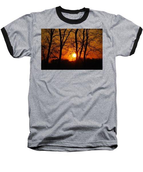 Beauatiful Red Sunset Baseball T-Shirt