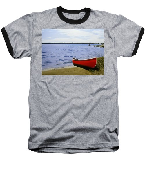 Beaultiful Red Canoe Baseball T-Shirt