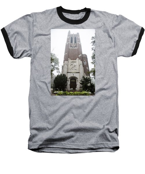 Beaumont Tower In The Fog  Baseball T-Shirt
