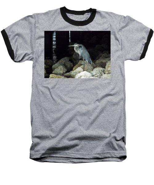 Beautiful And Patience Heron Baseball T-Shirt