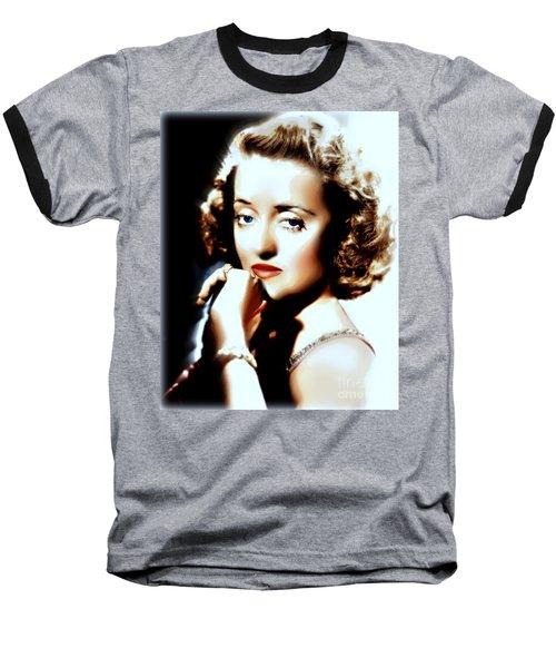 Beautiful Bette Baseball T-Shirt by Wbk