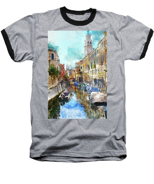 Beautiful Boats In Venice, Italy Baseball T-Shirt