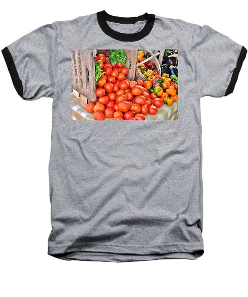 The Bountiful Harvest At The Farmer's Market Baseball T-Shirt
