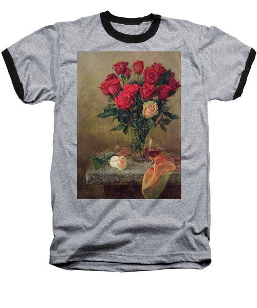 Beautiful Bouquet Of Roses Baseball T-Shirt