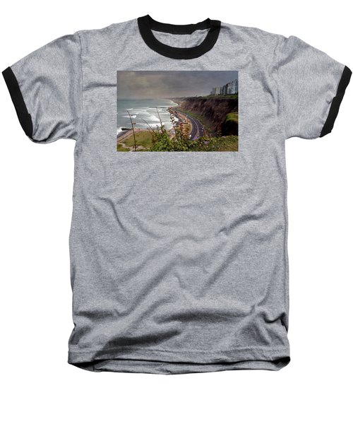 Beautiful Coastline Of Lima Baseball T-Shirt