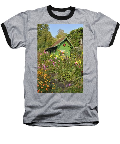 Beautiful Colorful Flower Garden Baseball T-Shirt
