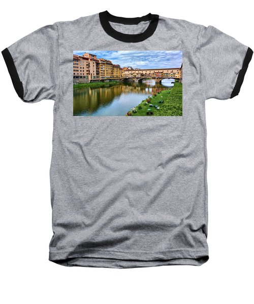 Ponte Vecchio On A Spring Day In Florence, Italy Baseball T-Shirt