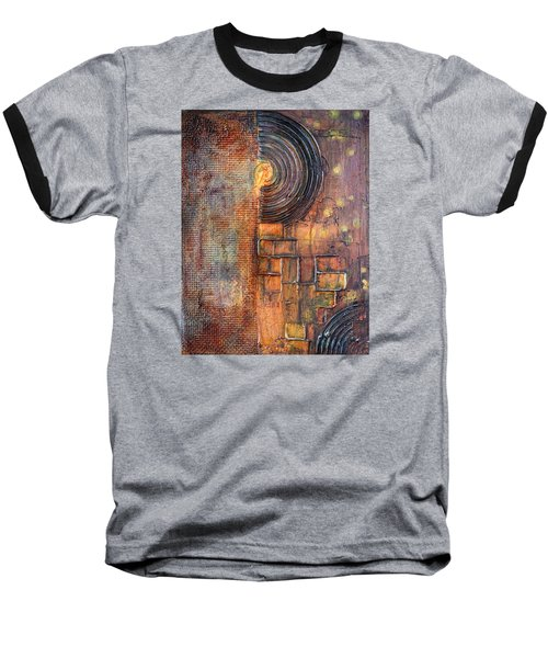 Beautiful Corrosion Baseball T-Shirt by Theresa Marie Johnson