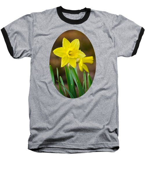 Beautiful Daffodil Flower Baseball T-Shirt by Christina Rollo