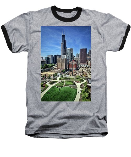 beautiful day and view of Chicago Baseball T-Shirt