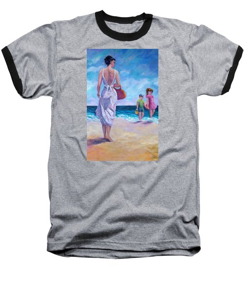 Beautiful Day At The Beach Baseball T-Shirt