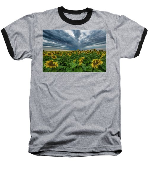 Baseball T-Shirt featuring the photograph Beautiful Disaster  by Aaron J Groen