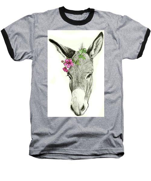 Beautiful Donkey Baseball T-Shirt by Heidi Kriel