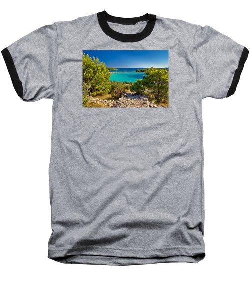 Beautiful Emerald Beach On Murter Island Baseball T-Shirt by Brch Photography
