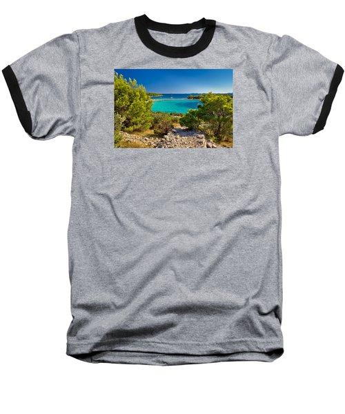 Beautiful Emerald Beach On Murter Island Baseball T-Shirt
