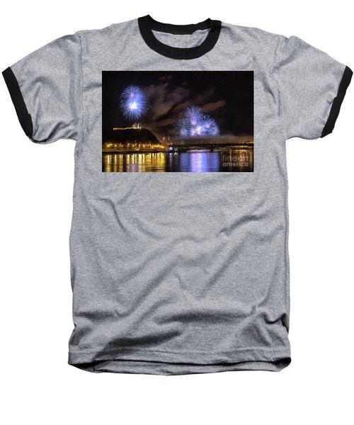 Beautiful Fireworks In Budapest Hungary Baseball T-Shirt
