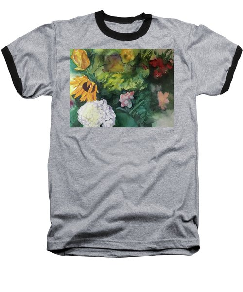 Beautiful Floral Jumble Baseball T-Shirt