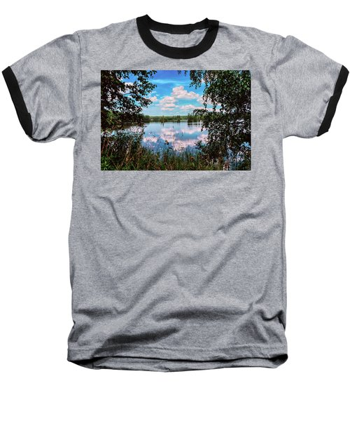 beautiful forest lake in Sunny summer day Baseball T-Shirt