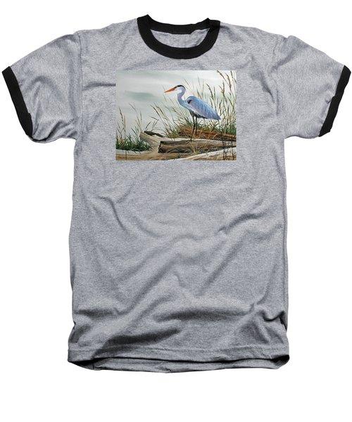Beautiful Heron Shore Baseball T-Shirt