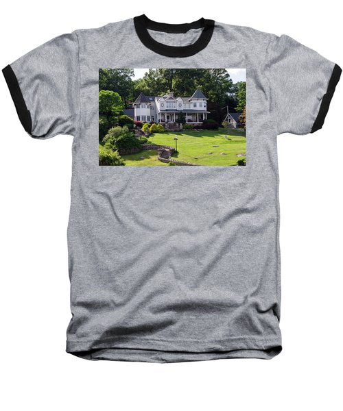 Baseball T-Shirt featuring the photograph Beautiful Home On Lake Hopatcong by Maureen E Ritter