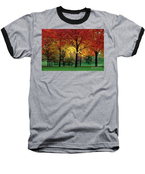 Beautiful Light At The Park In St. Louis In Autumn Baseball T-Shirt by Wernher Krutein