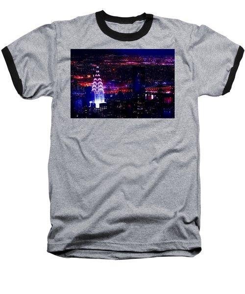 Beautiful Manhattan Skyline Baseball T-Shirt by Az Jackson