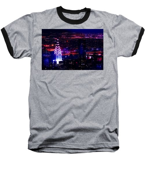 Beautiful Manhattan Skyline Baseball T-Shirt