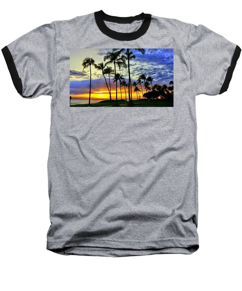 Beautiful Maui Hawaii Sunset Baseball T-Shirt