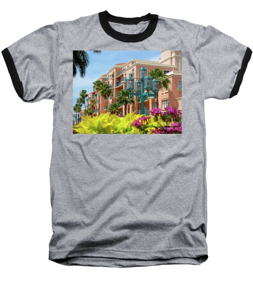 Beautiful Mizner Park In Boca Raton, Florida. #9 Baseball T-Shirt