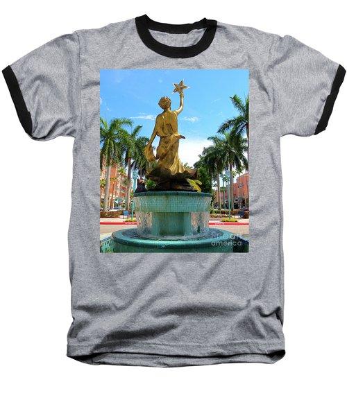 Beautiful Mizner Park In Boca Raton, Florida. Baseball T-Shirt