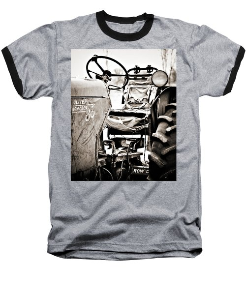 Beautiful Oliver Row Crop Old Tractor Baseball T-Shirt by Marilyn Hunt