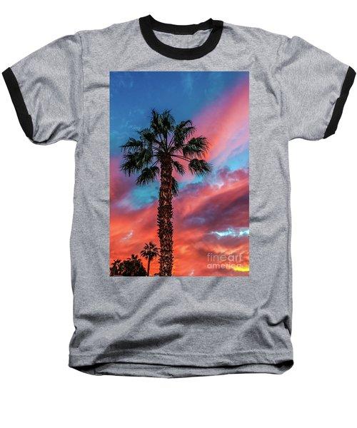 Beautiful Palm Tree Baseball T-Shirt by Robert Bales
